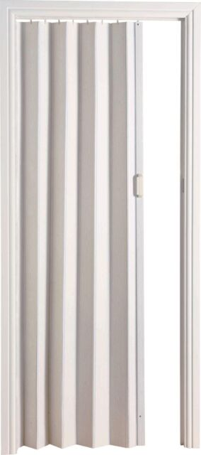 White Internal Bi Folding Concertina Accordion Door Pvc Sliding