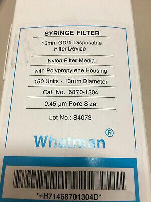 13mm Whatman 6870-1304 Nylon GD//X 13 Syringe Filter 0.45 Micron Pack of 150