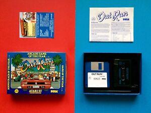 OUT-RUN-Atari-ST-Spiel-SEGA-OVP-Diskette-Soundtrack-BIG-Turbo-BOX-no-Amiga-C64