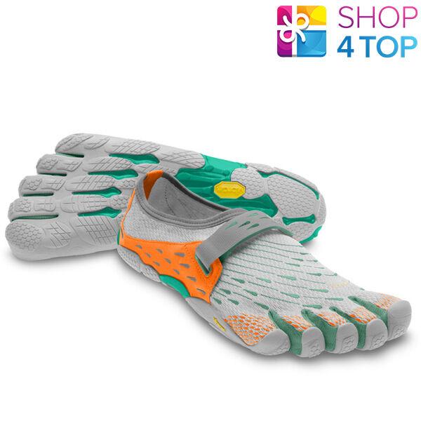 VIBRAM FIVEFINGERS Schuhe SEEYA W3653 GRAY ORANGE AQUA Damenschuhe BAREFOOT NEU
