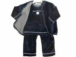 Baby unisex niños niñas 3 piezas terciopelo traje chaqueta top y pantalón