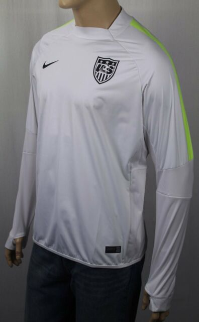 9ae891f7 Nike Mens US Soccer Storm Fit Jersey Pullover Long Sleeve Size Large White