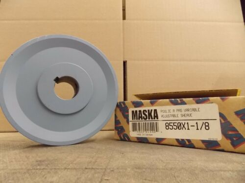 "1 8550X1-1//8   5.35/"" OD Maska Pulley 8550X1-1//8 VARIABLE PITCH SHEAVE GROVES"