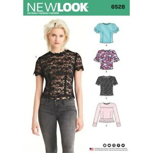 5ed143cf626 Details about New Look Sewing Pattern 6528 Misses 10-22 Tops Shirts Sleeve  and Trim Options