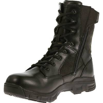 """BATES TACTICAL BOOTS 8"""" SIDE ZIPPER WATERPROOF LEATHER/NYLON #6610 size 7 R Or W"""