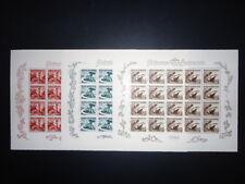 LIECHTENSTEIN 1950 285-287 ** POSTFRISCH im KLEINBOGEN RRR 1800€++(Z9030c
