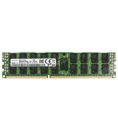 Samsung 128GB 4x32GB 4RX4 PC3-12800R DDR3-1600 240p ECC Registered Server RDIMM