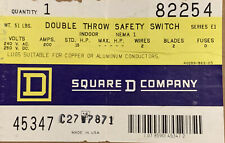 Square D 82254 200 Amp Double Throw Switch 240 Volts 2 Wire Indoor No Fuse
