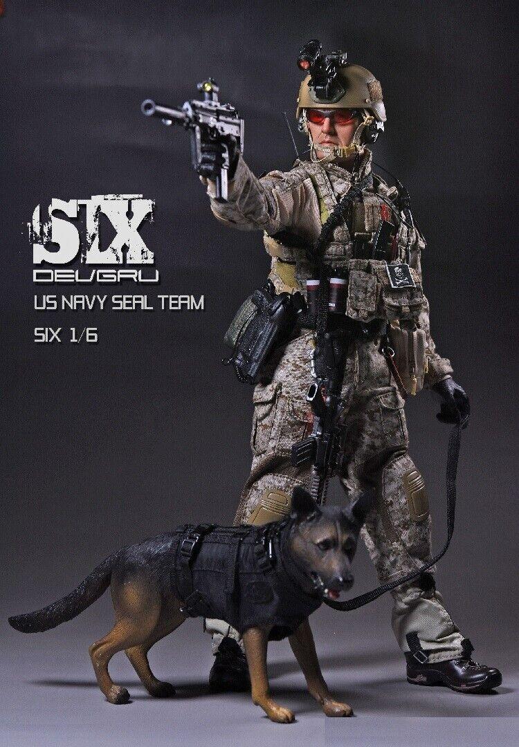 PLAYHOUSE PH 1 6 Soldiers US Military Navy Seal squadra  6 doppio Guns K9 w dog giocattoli  nessun minimo