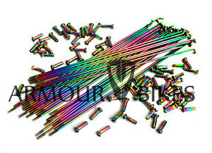 OIL SLICK CHOOSE YOUR LENGTH JET FUEL Bicycle Spokes 14G Steel