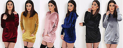 EntrüCkung Womens Megan Inspired Oversized Velour Hoody Velvet Sweatshirt Hoodie Lounge Top