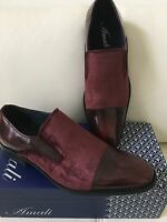 Mens Dress Shoes Suede Slip On Prom Wedding Amali Collection Italian Style