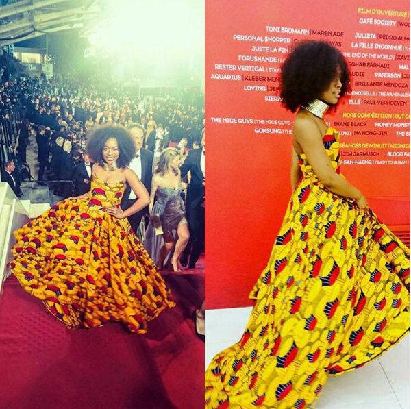 Women Sexy evening dress African print African prom dress handmade dress