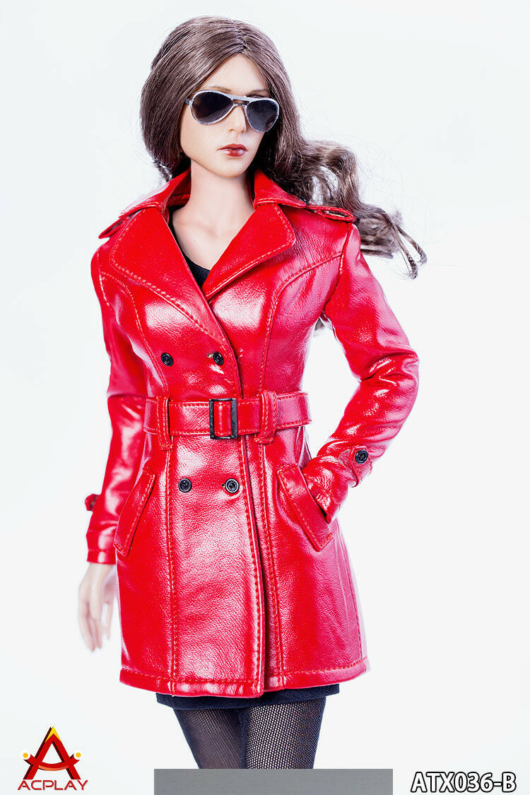 ACPLAY ATX036B 1 6 Female Red Leather Suit The Queen's Style Coat Clothing