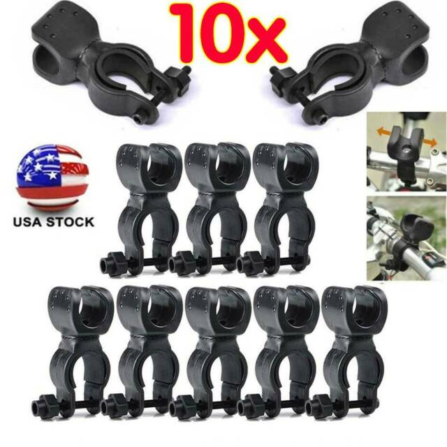 Bicycle Front Light Torch Clip Bracket 360° Rotation Flashlight Holder New