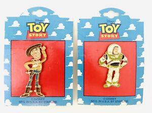 Vtg Disney Pixar Toy Story Woody And Buzz Lightyear Large Pins Starline USA HTF
