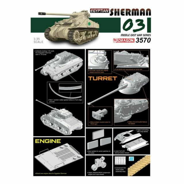 Dragon Drag3570 Sherman Egyptien 1/35