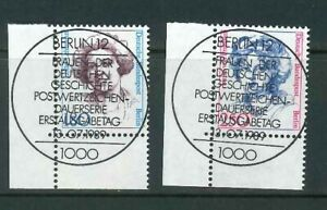 Berlin-Mi-Nr-844-845-Ecke-3-Eckrand-zentrisch-Vollstempel-Berlin-ESST