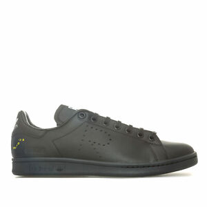 Hommes-Adidas-Originals-Raf-Simons-Stan-Smith-en-Core-noir-gris-fonce-solide