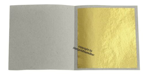Imit. 50 Blatt Blattgold Schlagmetall 4,8 x 4,8 cm zum Vergolden