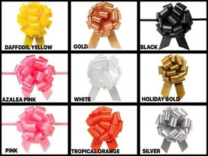 Flora-Satin-4-034-Pull-Bows-18-Loops-Choose-Color-and-Pack-amount