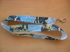 Handmade Border Collie Agility Dog Lanyard Whistle Walking Training Puppy Key ID