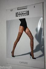 Wolford ~ CAPTIVATE ~ tights BNWT Medium UK 14/16 black