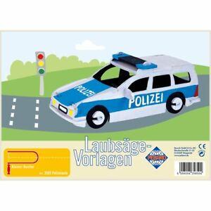PEBARO-Laubsaegevorlage-Polizeiauto-3D-Figur