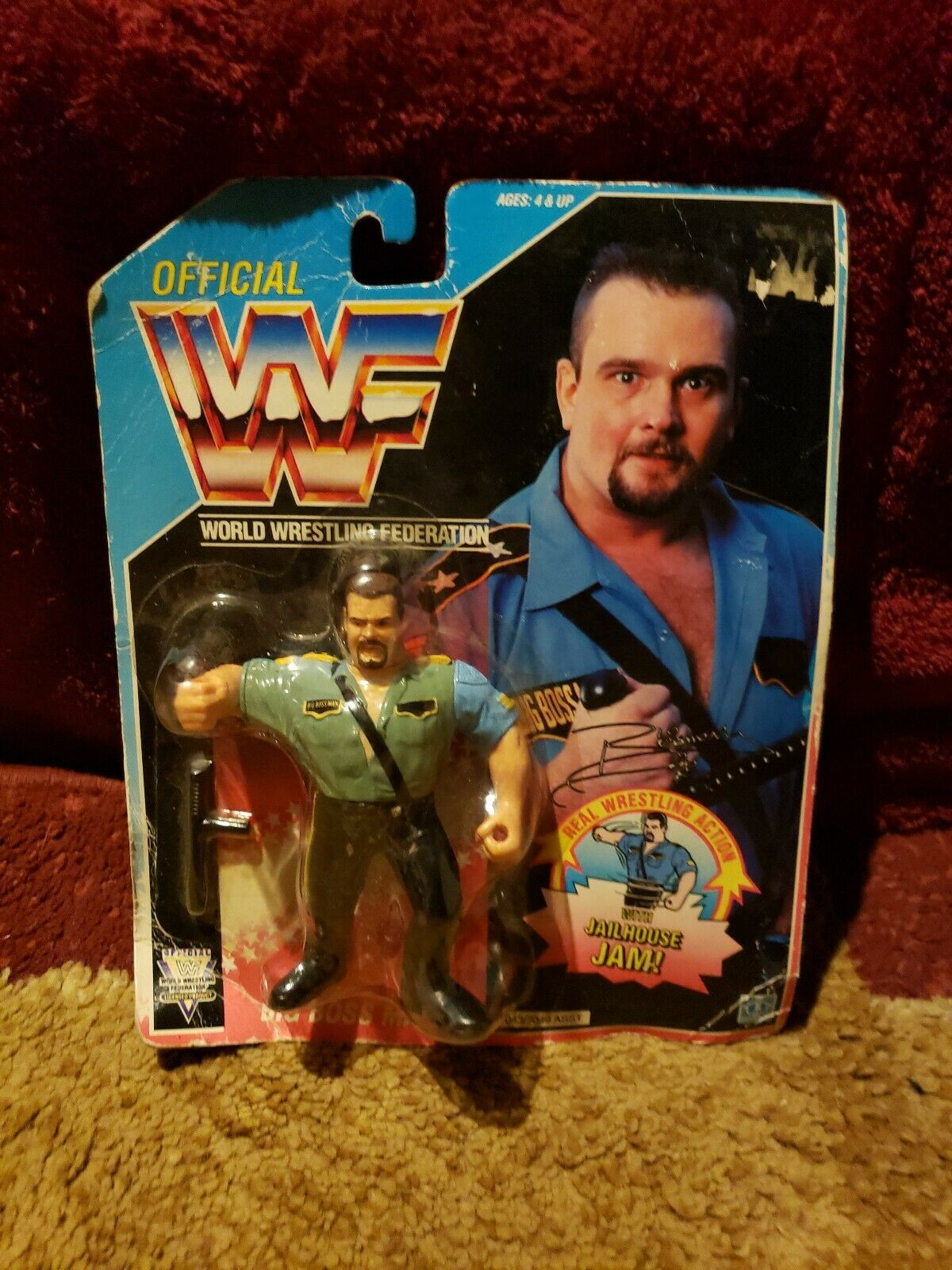 WWF Hasbro Big Bossman  2 1992 WWE WCW MOC Mint Boss Man