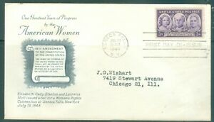 US-FDC-959-WOMEN-RIGHT-TO-VOTE-CANCL-JULY-19-1948-AddRESSED-GRIMSLAND-COVER