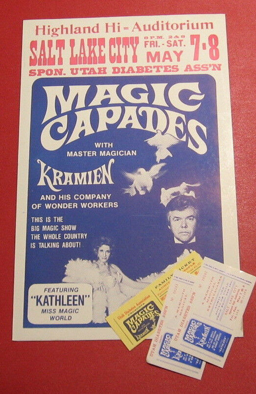 Vintage Kramien Poster and Tickets
