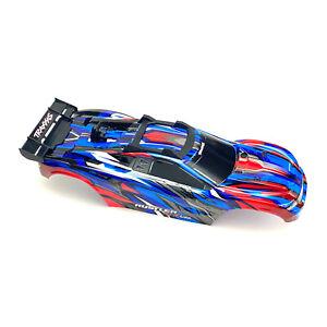 Traxxas Rustler 4X4 VXL Blue/Red Body Shell w/ Clipless Mounting