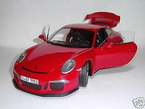 Porsche-911-991-gt3-Indian-Red-black-Minichamps-1-18-NEUF-amp-neuf-dans-sa-boite
