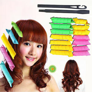 18pcs Magic Leverag Circle Hair Styling Roller Curler Curlformers