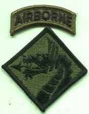 Vietnam Era US Army XVIII Airborne Corps Patch OD Subdued