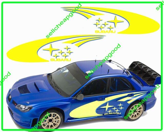 World Rally Team Side Decal Sticker for WRX Impreza STi Legacy Cosworth..