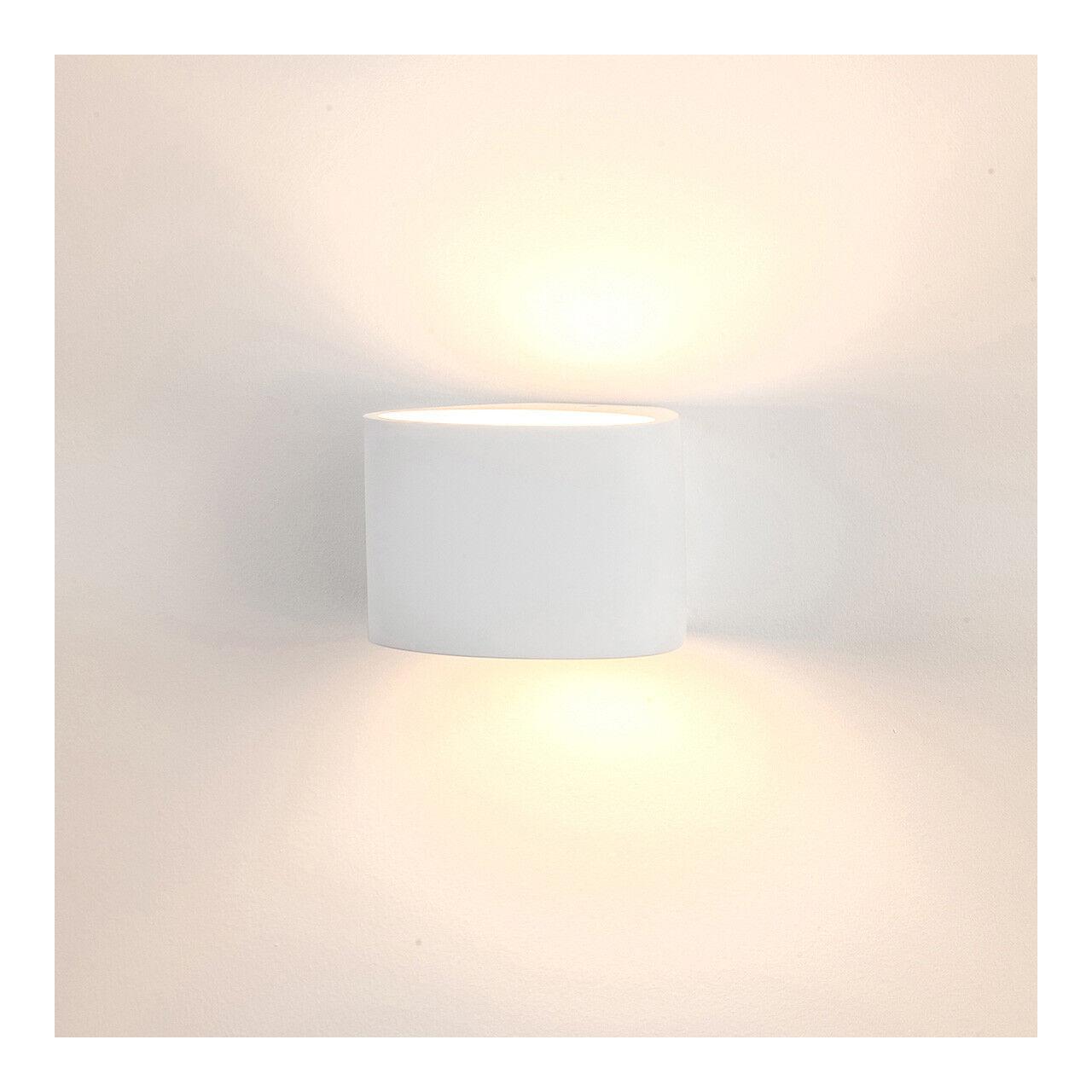 LED Gips Wandleuchte Lampe Wandlampe Gipsleuchten Gipslampe Leuchte bemalbar -50