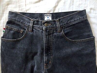 Umile Vintage Moschino Jeans Sbiadito Grigio Antracite 5 Tasche Jeans 31in Unisex Workwear-mostra Il Titolo Originale