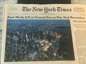 9/112006-(5 YEARS)- THE NEW YORK TIMES AT GROUND ZERO & SPECIAL BROKEN GROUND