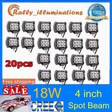 "NEW 20X18W Spot Light Bar 4"" 4inch LED Work ATV Off-Roads Fog Driving Cree UTV"