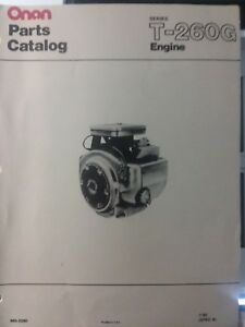 Details about Onan T-260G-GA024 hp Engine Parts Manual Garden Tractor on
