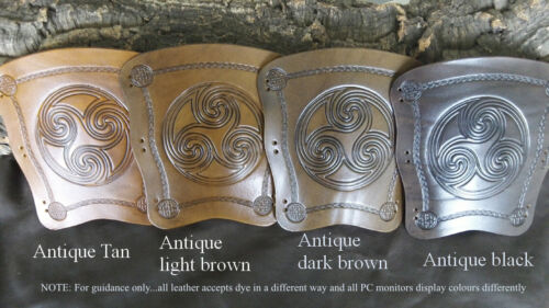 Bigfoot leather archery arm guard,traditional bracer, choose a design and colour