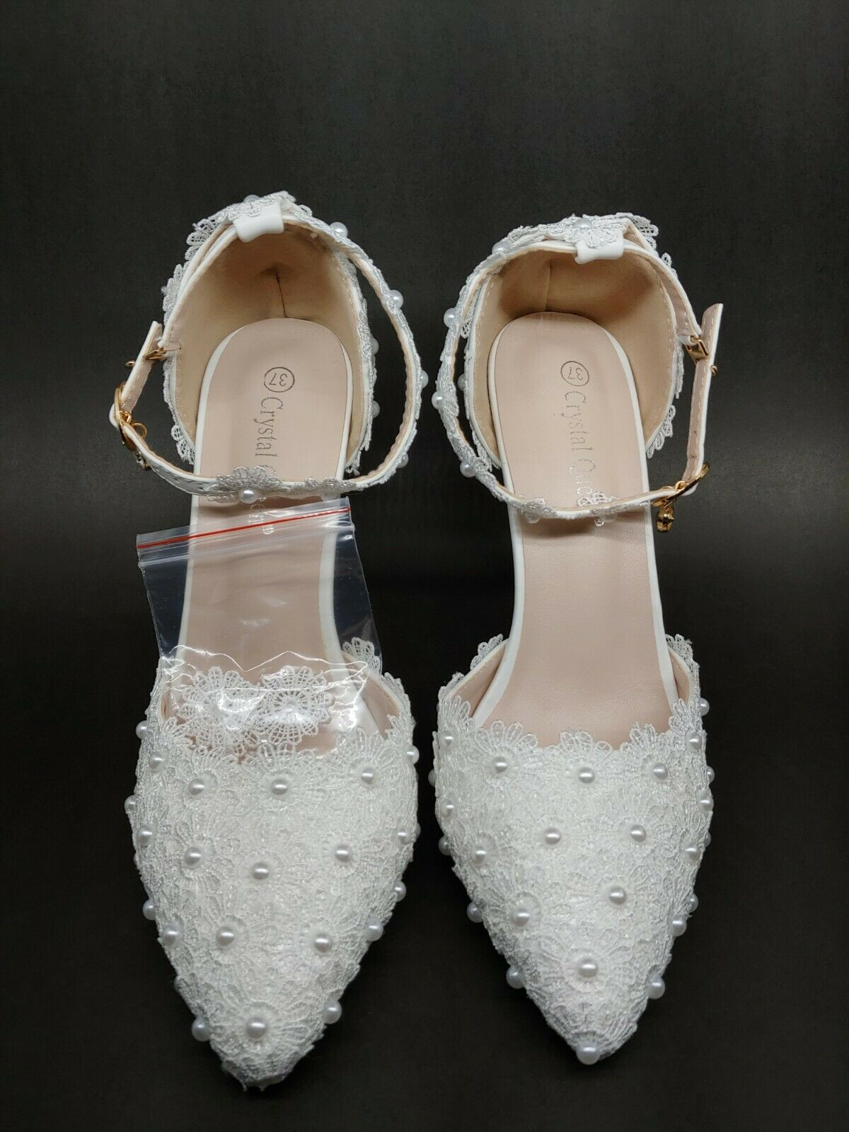 Crystal Queen Wedding Shoes Size 37 or 6.5 US
