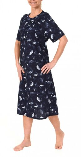 Elegantes Damen Nachthemd kurzarm,mit Knopfleiste am Hals 210 90 110 cm Länge