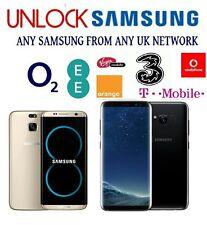 UNLOCK CODE SAMSUNG GALAXY S8+ S8 S7 S6 S6 EDGE PLUS S5 S4 MINI VODAFONE EE O2