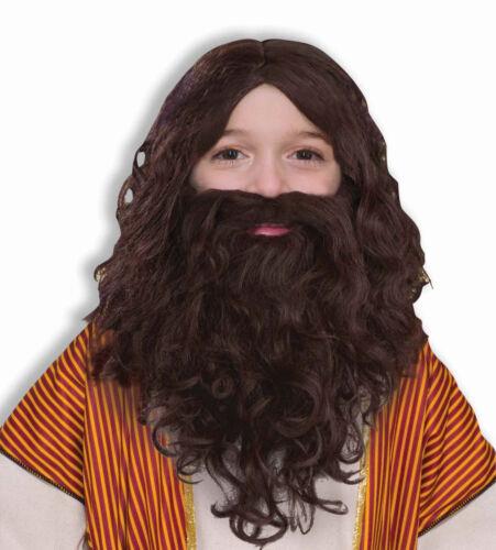 Biblical Times Brown Jesus Wig Beard CHILD Costume Accessory NEW