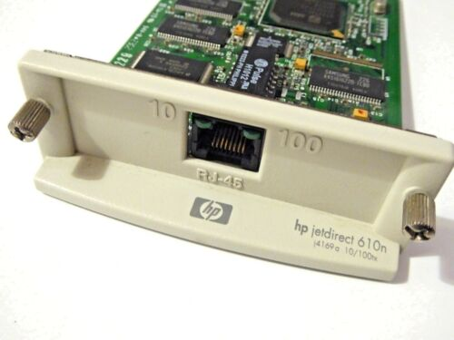 HP Jetdirect 610N Ethernet Print Server J4169A w 3 Month Warranty RTB USED