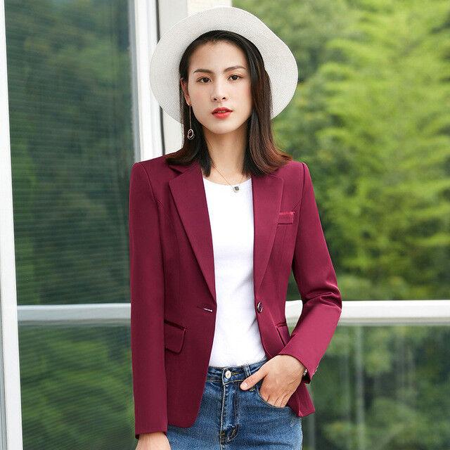 3cbb2f9ad34a Dimensioneur Dimensioneur Dimensioneur giacca donna slim corta manica lunga  rosso elegante slim 7179 e97c36