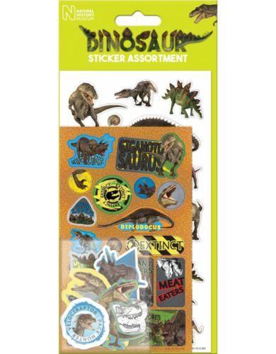 DINOSAUR Fun Foil Stickers Birthday Christmas Xmas Gift Kids Childrens Novelty