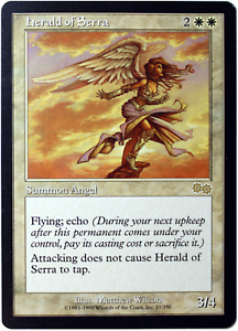 Herald of Serra - Magic The Gathering MTG - Urza's Saga - LP/NM - Reserved List